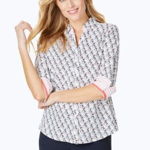 Mary Toucan Print Wrinkle-Free Toucan Shirt in 18